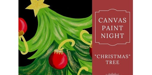 """Canvas Paint Night """"Christmas Tree""""  (2019-12-13 starts at 6:00 PM)"""