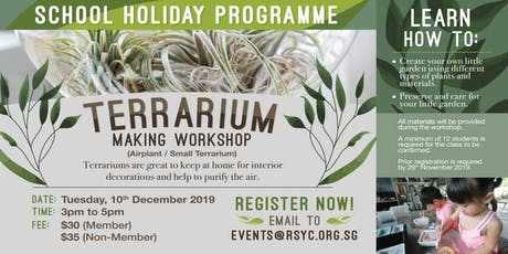 Terrarium Making Workshop (Airplant / Small Terrarium) tickets
