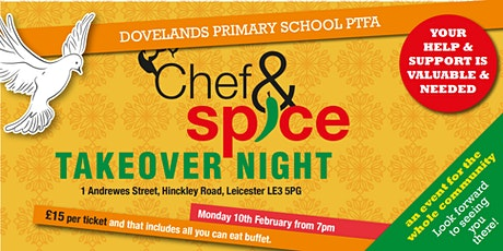 Dovelands PTFA Chef and Spice Takeover tickets
