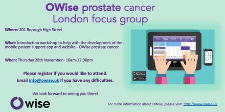 OWise prostate cancer focus group tickets