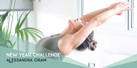New year yoga challenge (Con ALessandra Oram) entradas
