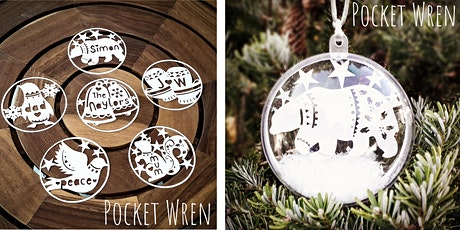 Festive Papercut Baubles. tickets