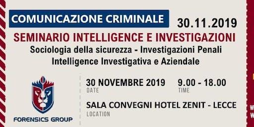 Seminario Intelligence e Investigazioni