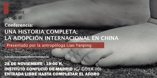 Conferencia: Una historia completa, la adopción internacional en China