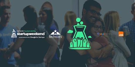 Techstars Startup Weekend Helsinki Sustainability tickets