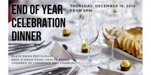 End of Year Celebration Dinner with The Chamber of Commerce And Community