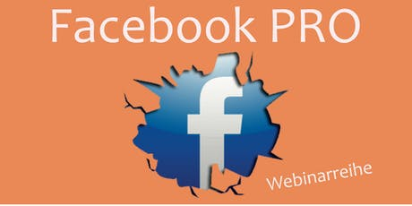 Facebook PRO | Wie ein Profi agieren | Start der Webinarreihe 12.2019 tickets