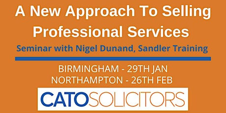 A New Approach to Selling Professional Services - By Nigel Dunand tickets