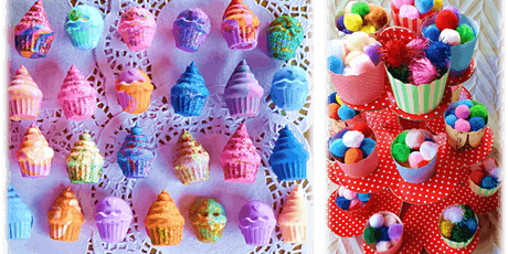 Tea Party with Cup Cake Glitter Art tickets