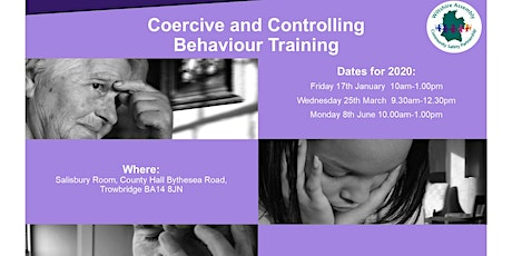 Coercive and Controlling Behaviour - Training for Professionals tickets