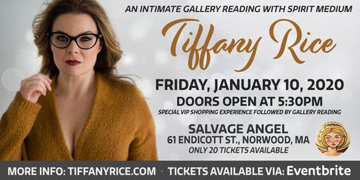 Intimate Gallery Reading with Tiffany Rice at Salvage Angel