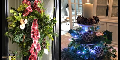 Luxury Christmas Wreath Making Saturday Class