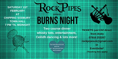 ROCKPIPES present BURNS NIGHT tickets