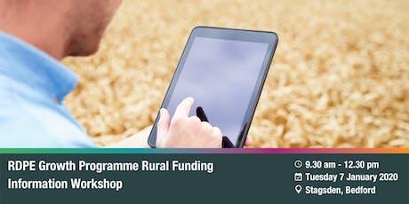 RDPE Growth Programme: Rural Funding Information Workshop -  Stagsden tickets