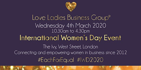 #LoveBiz International Women's Day Event - London tickets