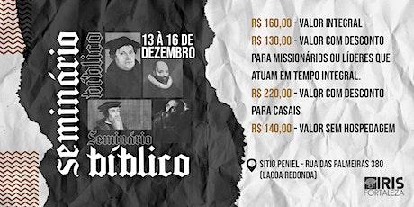 SEMINÁRIO BÍBLICO - IRIS FORTALEZA ingressos