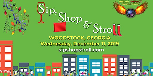 Sip, Shop & Stroll - Holiday Fun & Shopping in Downtown Woodstock