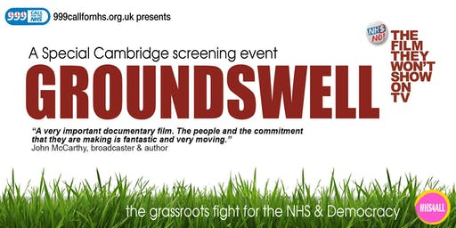 Groundswell - the Grassroots fight for the NHS & Democracy