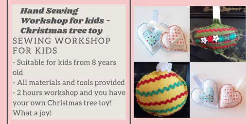 Kids Hand Sewing Workshop - learn to sew this Christmas!