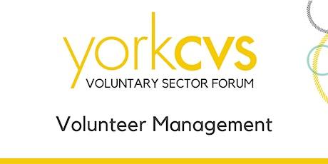 Voluntary Sector Forum - Volunteer Management tickets