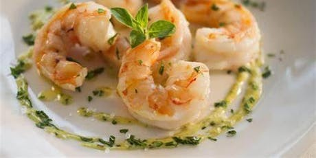 UBS Cooking School: Grilled Shrimp Champagne Beurre Blanc Sauce tickets