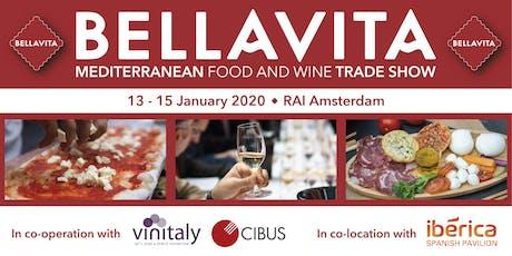 Bellavita Expo Amsterdam 2020 | Mediterranean Food & Wine Trade Show tickets