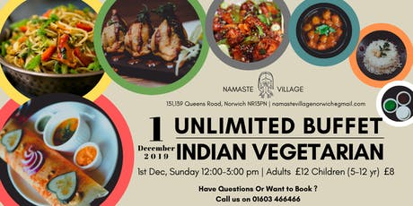 1st December 2019 | Unlimited Buffet  Lunch | Norwich | Indian Vegetarian tickets