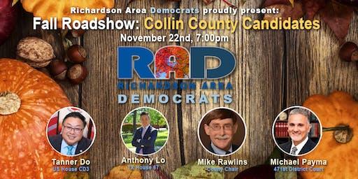 Fall Roadshow: Collin County Candidates Meet & Greet #3!