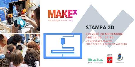Stampa 3D. Laboratorio gratuito per bambini a cura di MakeX biglietti