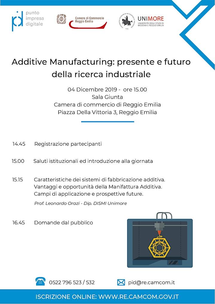Immagine Additive Manufacturing: presente e futuro della ricerca industriale