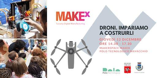 Droni. Impariamo a costruirli! Laboratorio gratuito per bambini a cura di MakeX