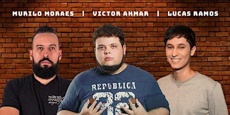 COMEDIA STAND UP EM AMPARO  com VICTOR AHMAR, MURILO MORAES E LUCAS RAMOS ingressos