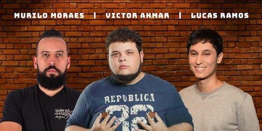 COMEDIA STAND UP EM AMPARO| com VICTOR AHMAR, MURILO MORAES E LUCAS RAMOS