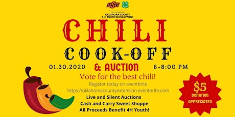 Oklahoma County 4-H 2020 Chili Cook-Off and Auction tickets