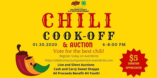 Oklahoma County 4-H 2020 Chili Cook-Off and Auction