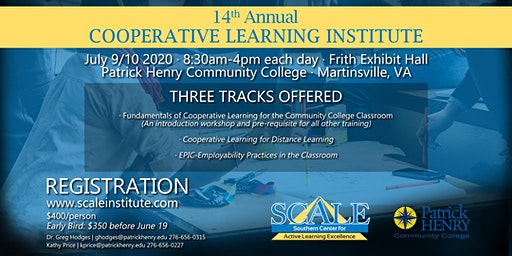 14th Annual SCALE Cooperative Learning Institute 2020