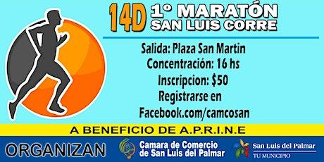 1ra  Edición - Maratón San Luis Corre entradas
