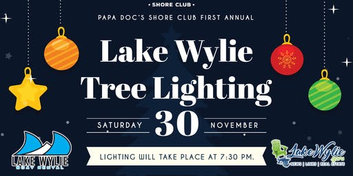 Papa Doc's Shore Club's First Annual Lake Wylie Tree Lighting