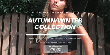 Vanilla Sand: Autumn/Winter Collection Preview tickets