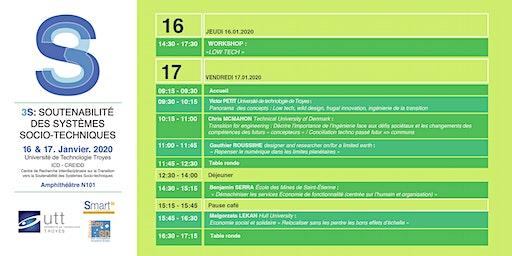 3S : Soutenabilité des Systèmes Socio-Techniques 2020 - DAY 1