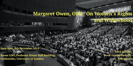 Margaret Owen, OBE:  On Women's Rights and Widowhood tickets
