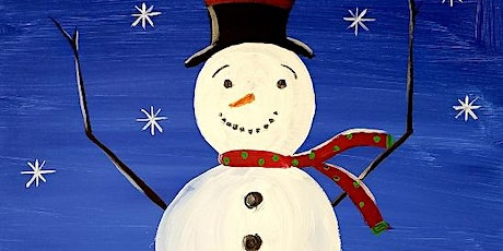 Learn how to recreate this snowman painting 'Tis The Season' Paint and Sip tickets