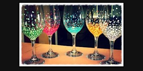 DIY Wine Glass Sip and Paint with Any Colors and Designs on 2 Large Glasses tickets