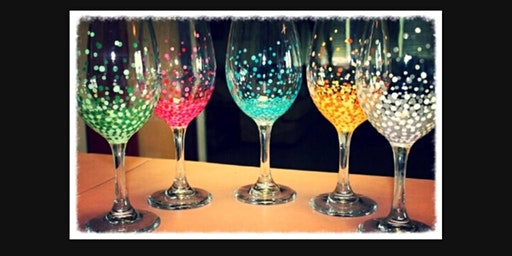 Wine Glass Sip and Paint with any colors on 2 Large Glasses