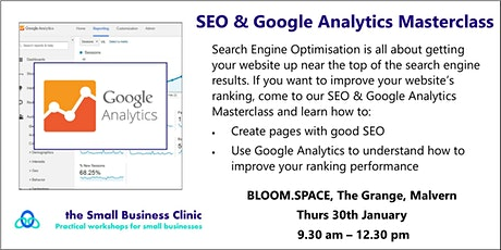 SEO and Google Analytics Workshop, Malvern, Worcester tickets