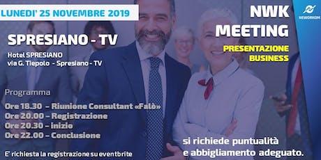 MEETING PRESENTAZIONE BUSINESS - NEWORKOM COMMUNITY - SPRESIANO (TV) biglietti