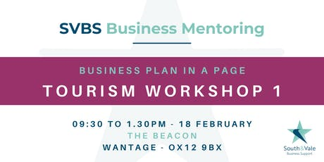 Business Plan on a Page - Tourism Workshop 1 tickets