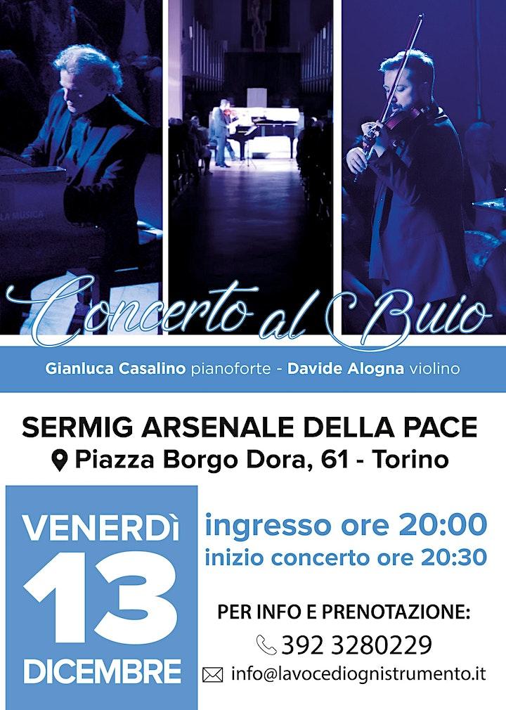 Immagine Concerto al Buio - con Gianluca Casalino e Davide Alogna