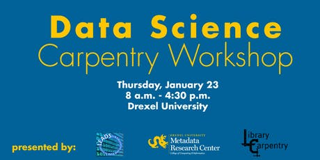 Metadata Research Center: Data Science Foundation Carpentry tickets