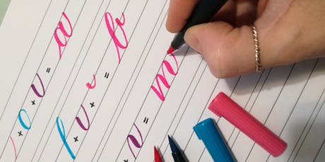 Brush calligraphy biglietti